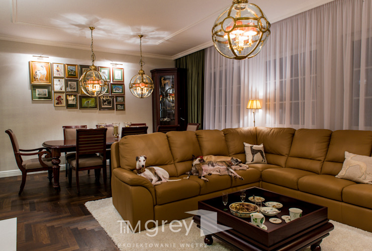 Classic Design - 230m2 Klasyczny salon od TiM Grey Interior Design Klasyczny