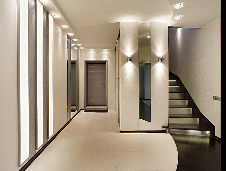 Холл Коридор, прихожая и лестница в стиле минимализм от Studio Design-rise Минимализм