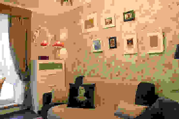 3-x комнатная квартира Гостиная в стиле кантри от Space for life Кантри
