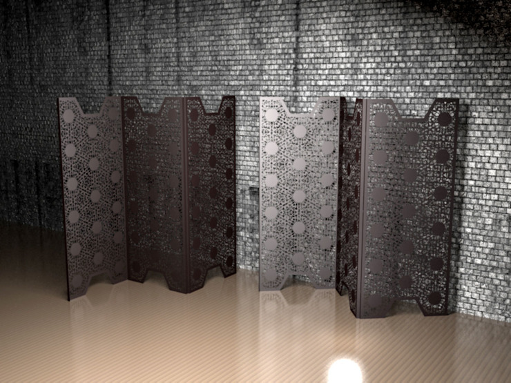 Black Lace screen partitions and room dividers: modern  by Laser cut Furniture & Screens, Modern