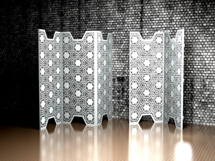 White Lace room partitions and dividers: modern  by Laser cut Furniture & Screens, Modern