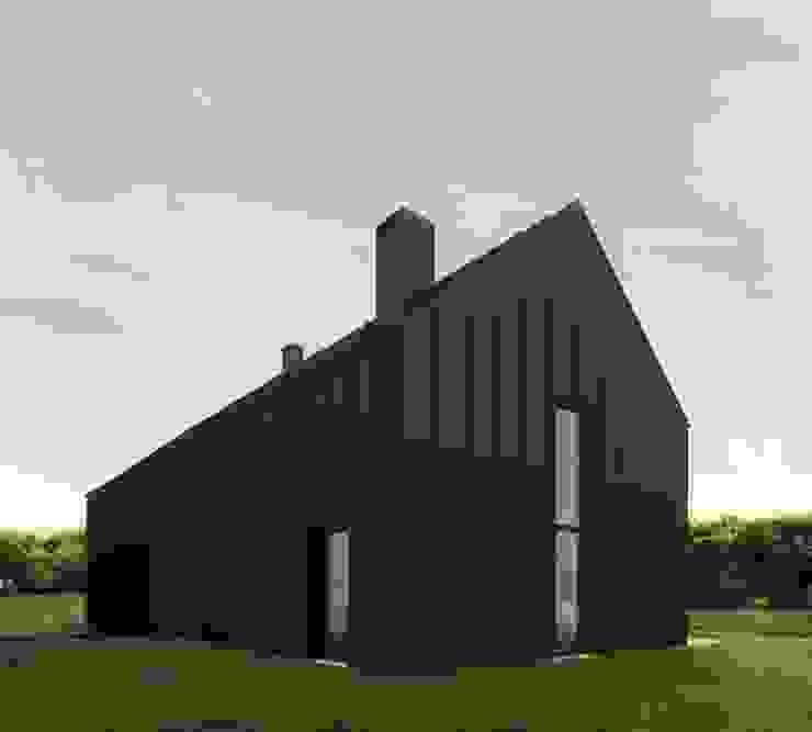 Czarny Dom Minimalistyczne domy od 081 architekci Minimalistyczny
