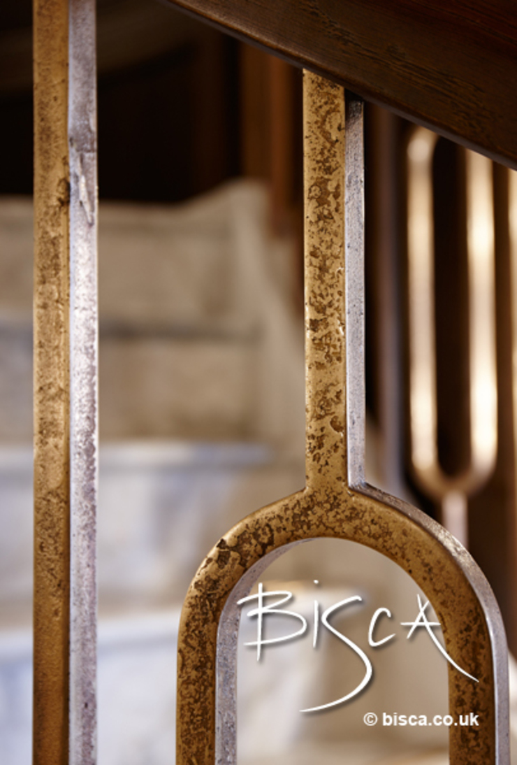 Hand Forged Balustrade Classic style corridor, hallway and stairs by Bisca Staircases Classic