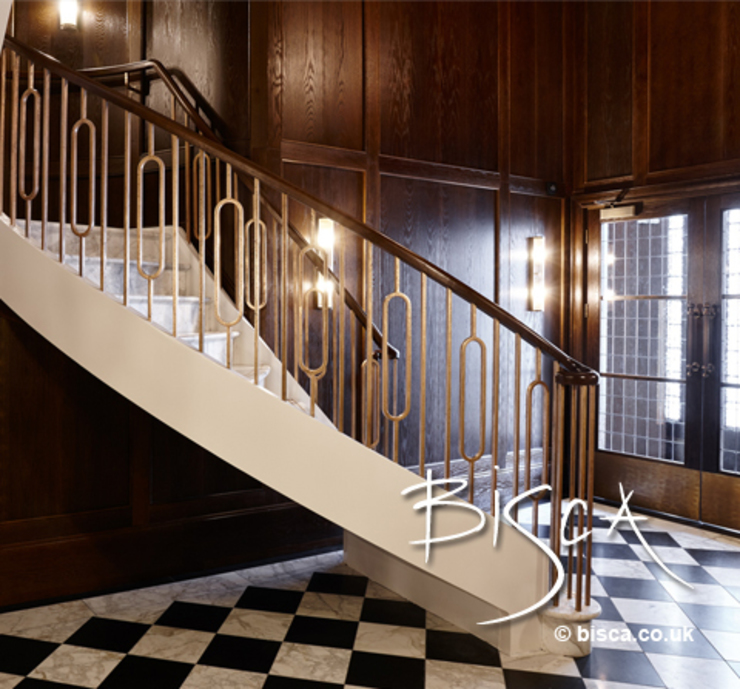 Stone Staircase - Southampton Street Apartment Development Classic style corridor, hallway and stairs by Bisca Staircases Classic