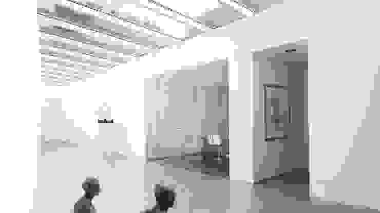 Modern corridor, hallway & stairs by Lab32 architecten Modern