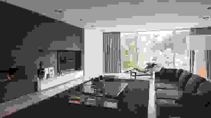 Salas / recibidores de estilo  por Lab32 architecten