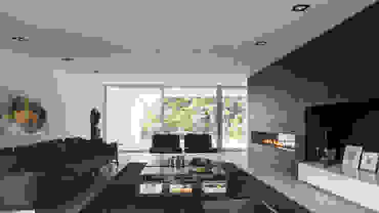 Eigentijdse bungalow Moderne woonkamers van Lab32 architecten Modern