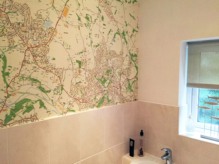 Custom Map Wallpaper : classic  by Wallpapered, Classic