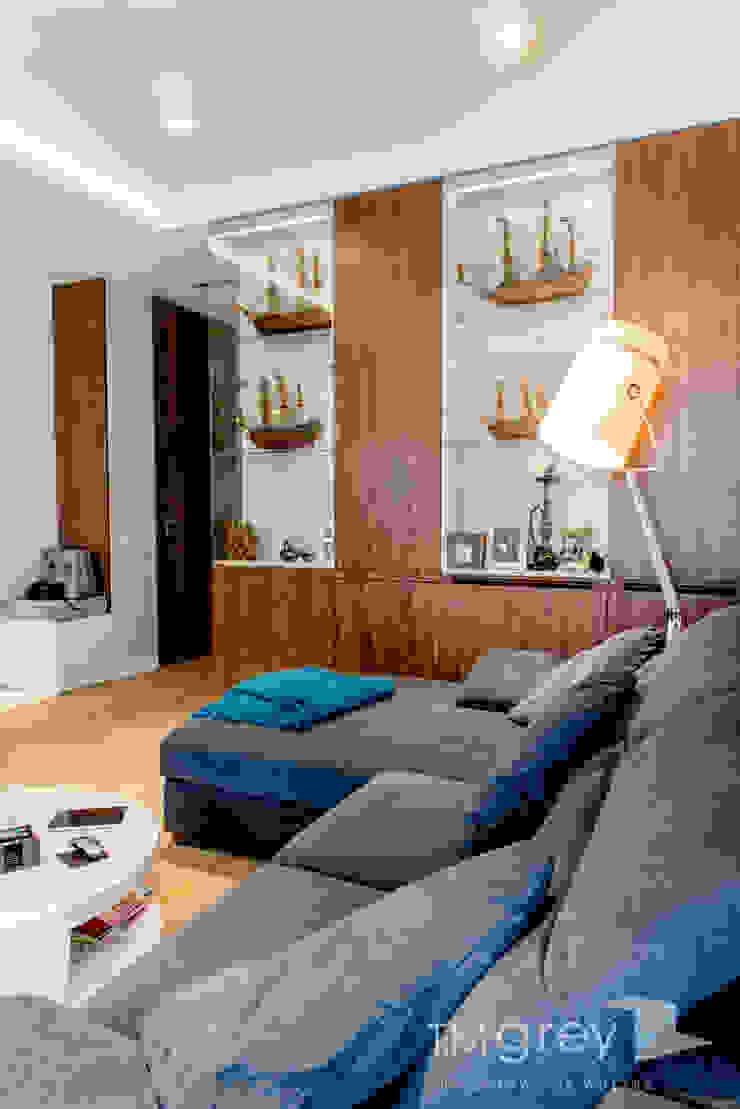 Modern Apartment – 100m2 Nowoczesny salon od TiM Grey Interior Design Nowoczesny