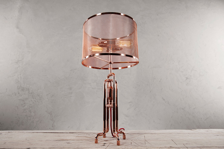 RETO Copper Table Lamp od homify Industrialny