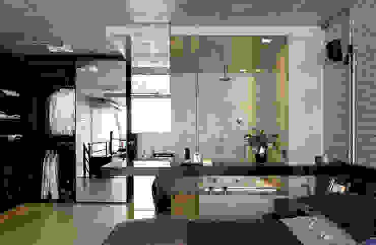 Salle de bain industrielle par DIEGO REVOLLO ARQUITETURA S/S LTDA. Industriel