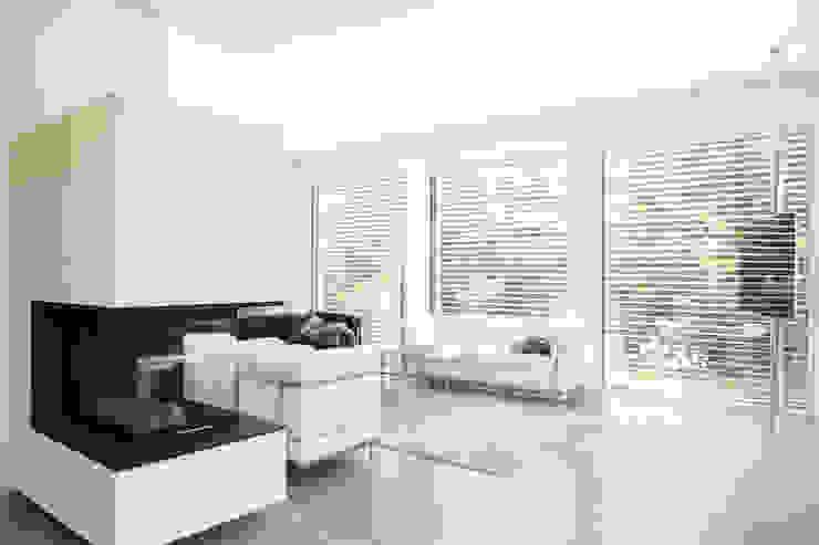 Minimalist Oturma Odası 2P-raum® Architekten Minimalist