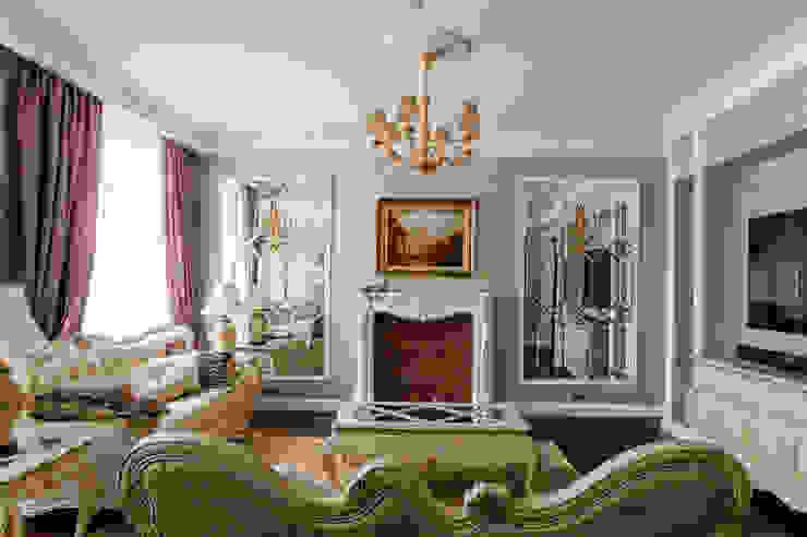 Квартира в Москве 137 кв. м. Гостиная в классическом стиле от MM-STUDIO Классический