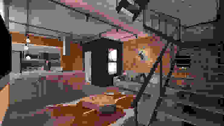 Casa Loft Salas de estar modernas por K+S arquitetos associados Moderno