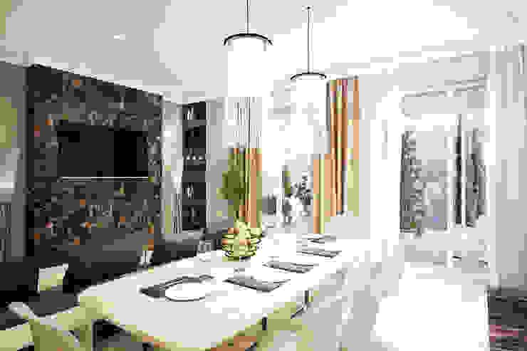 Трехкомнатная квартира в серых тонах Кухни в эклектичном стиле от INHOUSE Эклектичный
