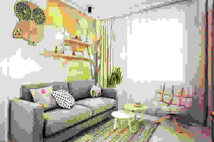 Трехкомнатная квартира в серых тонах Детские комната в эклектичном стиле от INHOUSE Эклектичный