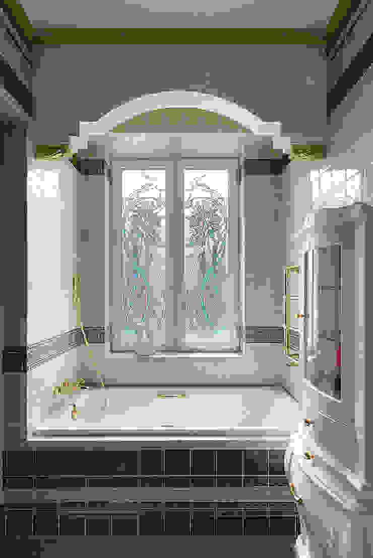 Ванная комната.Витраж. Ванная комната в эклектичном стиле от KRAUKLIT VALERII Эклектичный