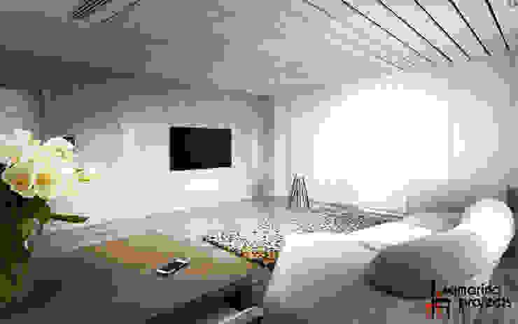Лофт с характером Гостиная в стиле лофт от Samarina projects Лофт