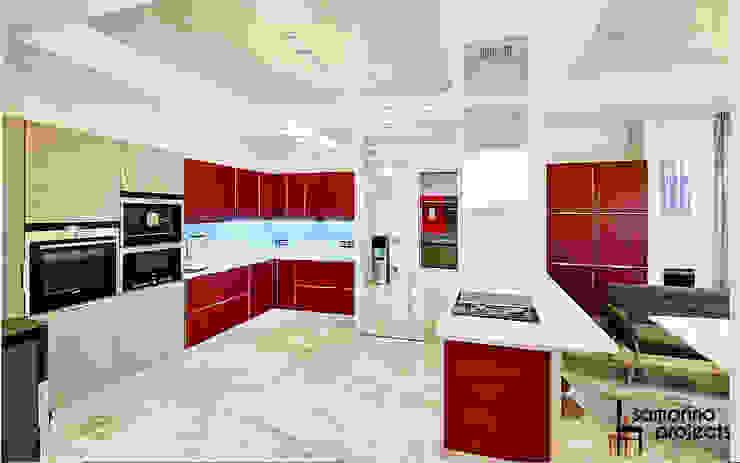Квартира для современной семьи Кухня в стиле минимализм от Samarina projects Минимализм