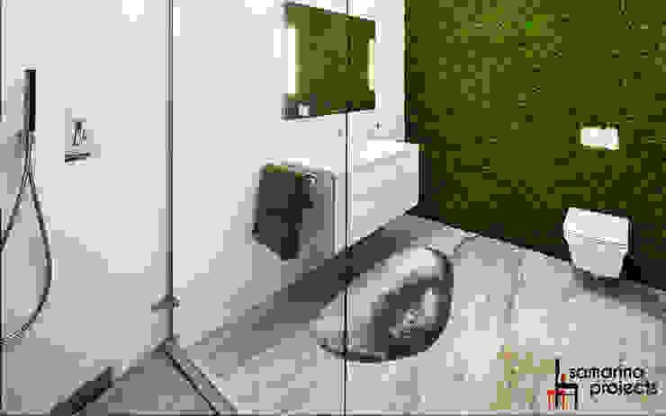 Лофт с характером Ванная в стиле лофт от Samarina projects Лофт