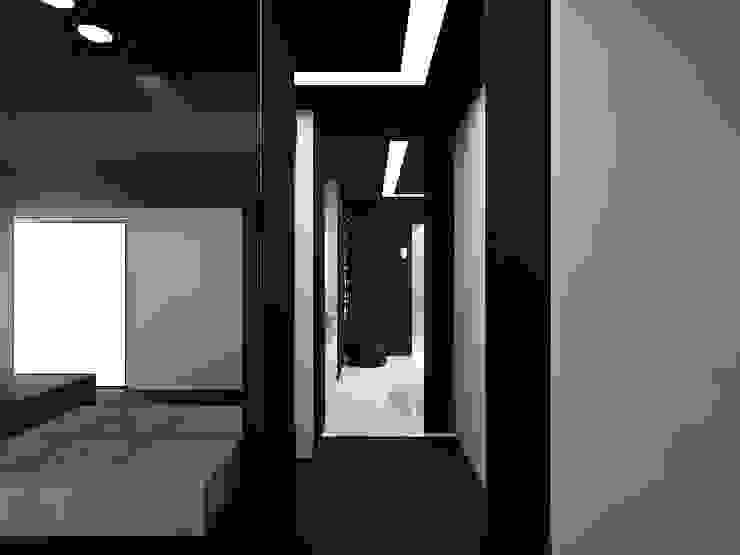 (DZ)M Интеллектуальный Дизайн Pasillos, vestíbulos y escaleras de estilo minimalista