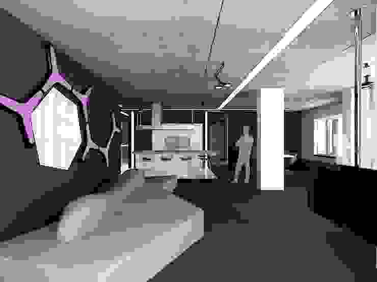 (DZ)M Интеллектуальный Дизайн Salas de estilo minimalista