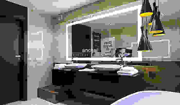 Łazienka Nowoczesna łazienka od Anchal Anna Kuk-Dutka Nowoczesny