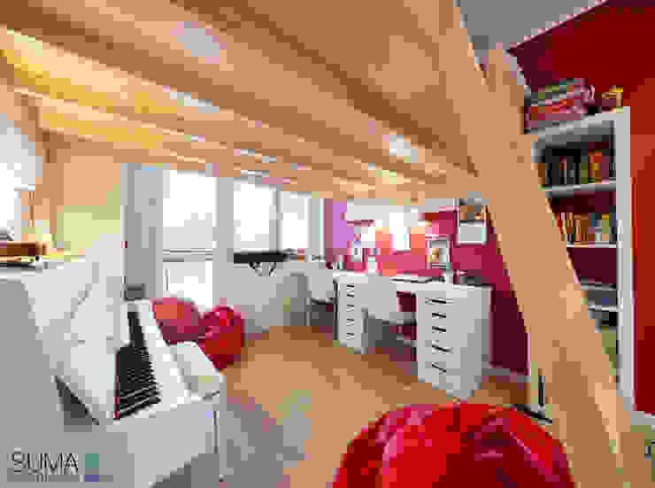FAMILY_ONE Nowoczesny pokój dziecięcy od SUMA Architektów Nowoczesny