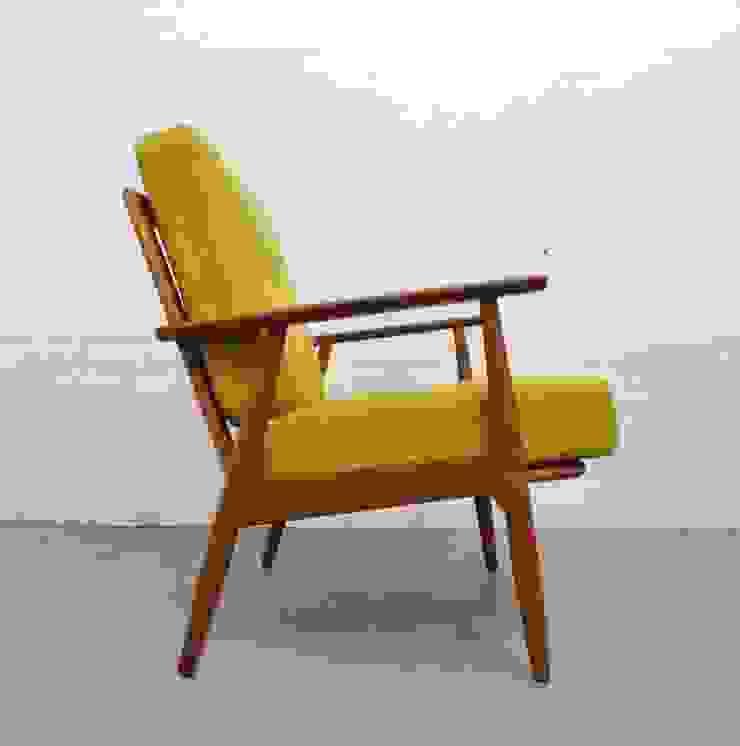 1960s Danish teak easy chair with yellow cushions: scandinavian  by Archive Furniture , Scandinavian
