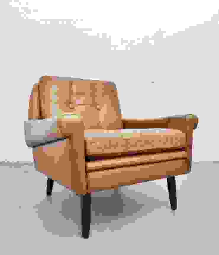 1960s tan leather Skipper chair : scandinavian  by Archive Furniture , Scandinavian