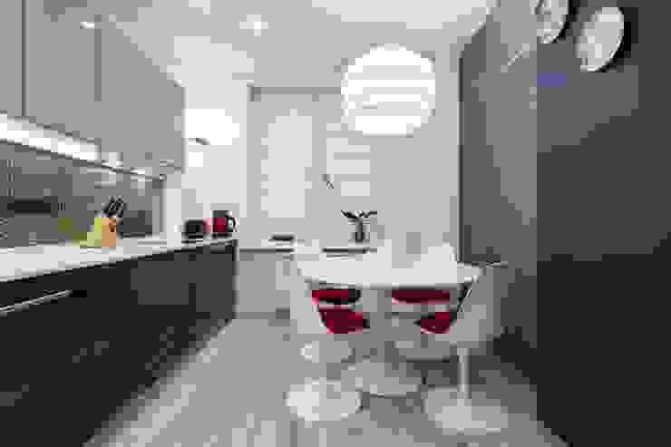 Кухня-столовая (DZ)M Интеллектуальный Дизайн Кухня в скандинавском стиле