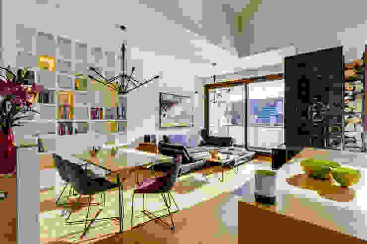 Apartment w Libertowie pod Krakowem Minimalistyczny salon od Biuro Projektowe Pióro Minimalistyczny