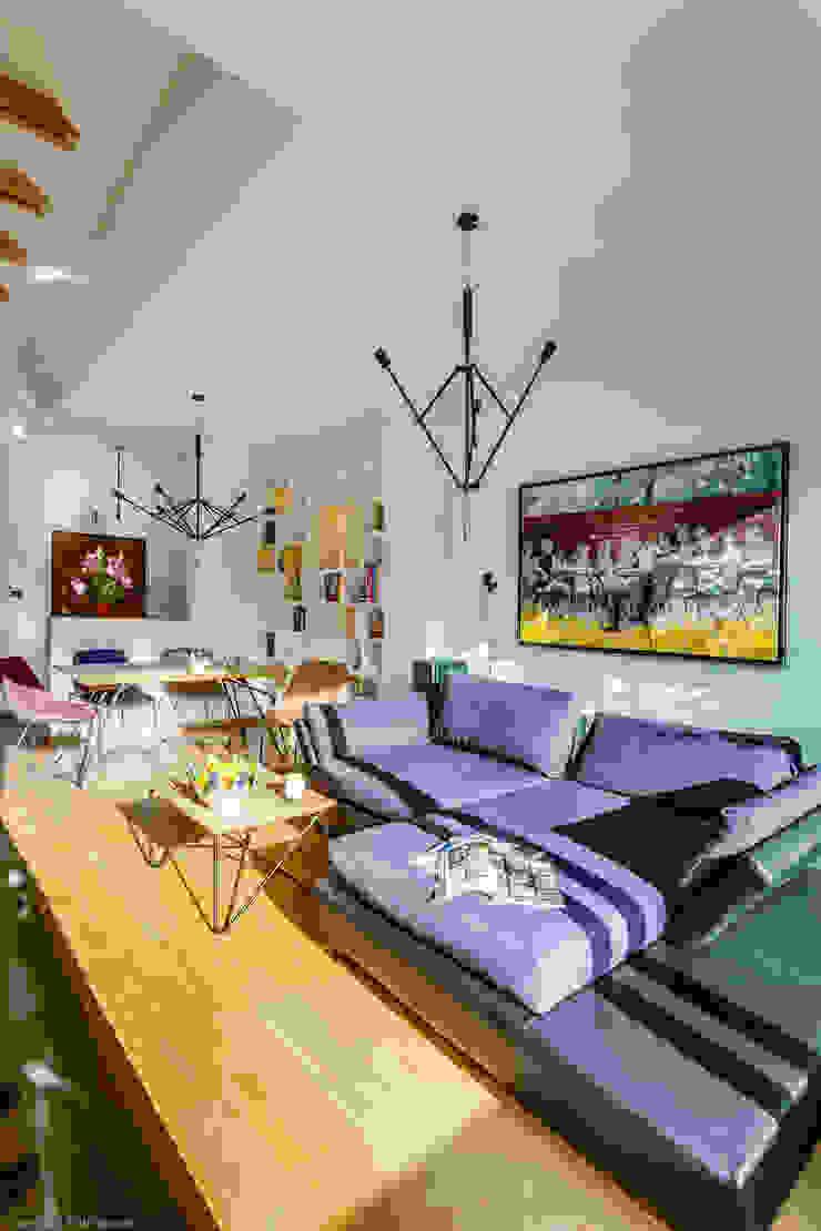 Salon minimaliste par Biuro Projektowe Pióro Minimaliste
