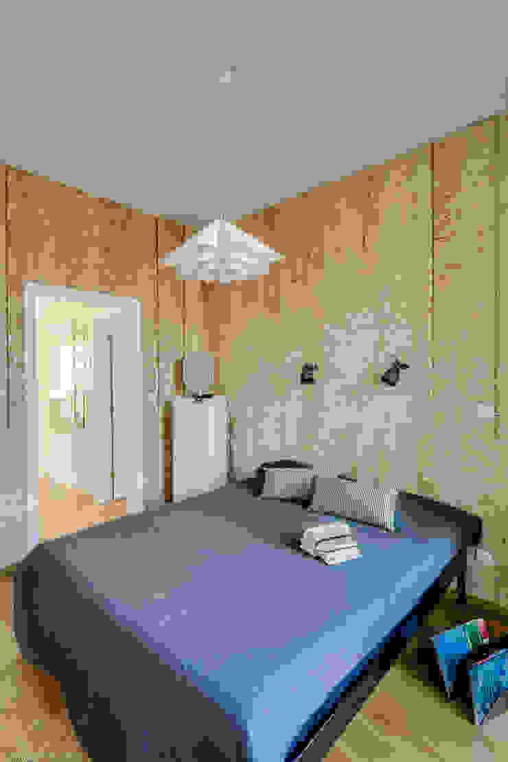 Chambre minimaliste par Biuro Projektowe Pióro Minimaliste