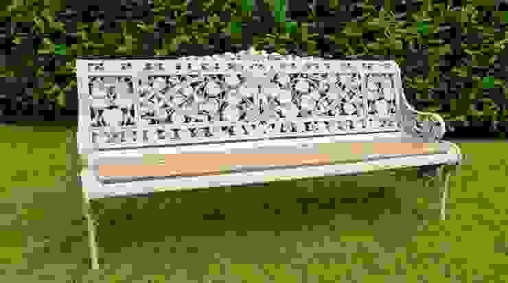 Coalbrookdale Nasturtium Pattern Garden Bench: classic  by UKAA | UK Architectural Antiques , Classic