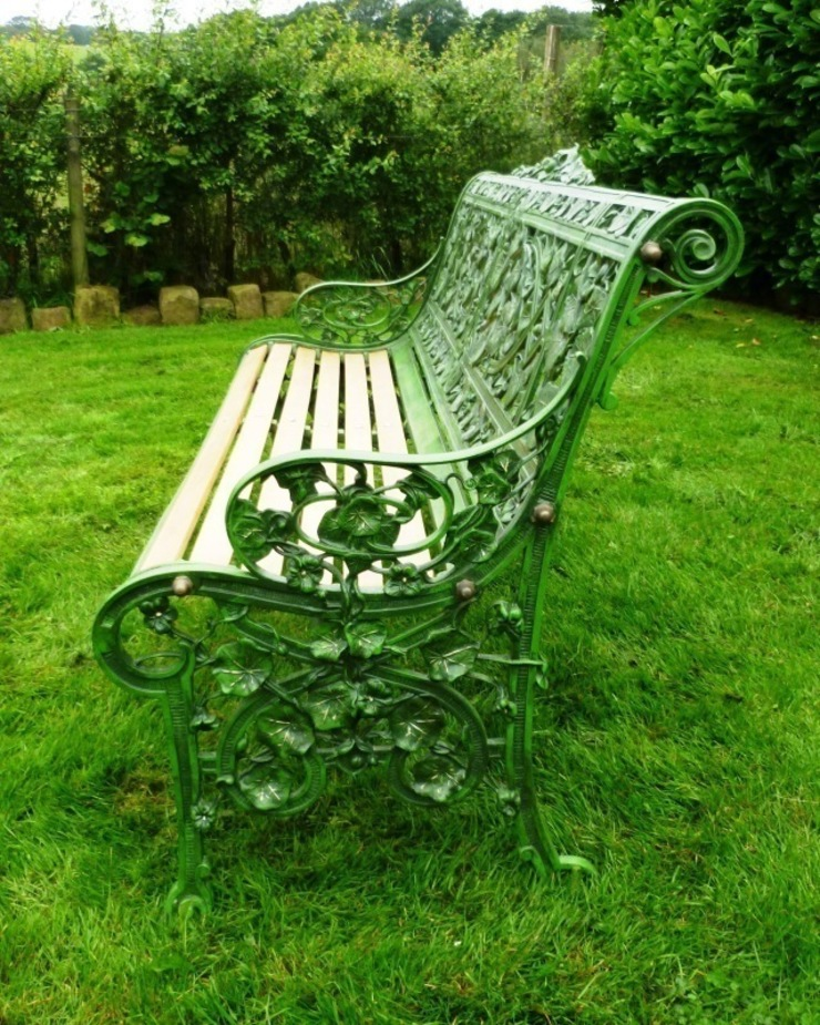 Side view of Coalbrookdale Nasturtium Pattern Garden Bench  from UKAA: classic  by UKAA | UK Architectural Antiques , Classic