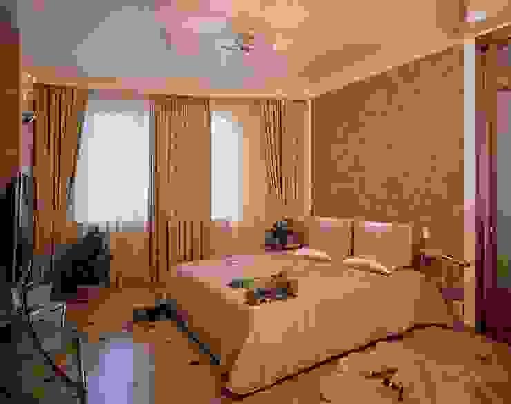 Интерьеры двухкомнатной квартиры Спальня в эклектичном стиле от дизайн студия 'LusiSarkis ' Эклектичный