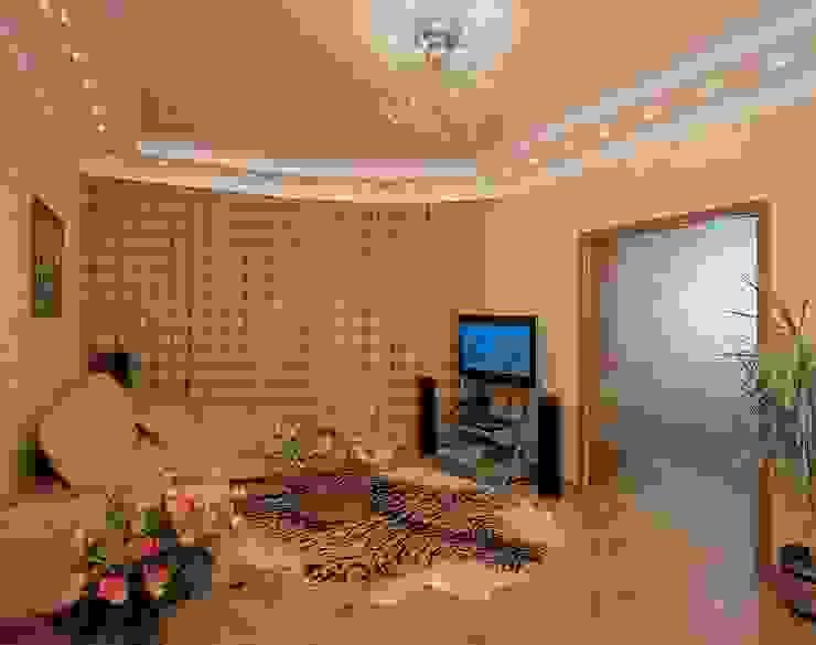 Интерьеры двухкомнатной квартиры Гостиные в эклектичном стиле от дизайн студия 'LusiSarkis ' Эклектичный
