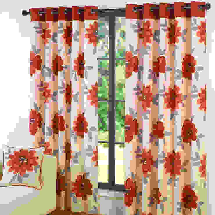 Design Annabella Red Ring Top Curtains: modern  by Century Mills , Modern