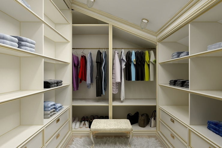 Дизайн гардеробной Гардеробная в классическом стиле от Цунёв_Дизайн. Студия интерьерных решений. Классический