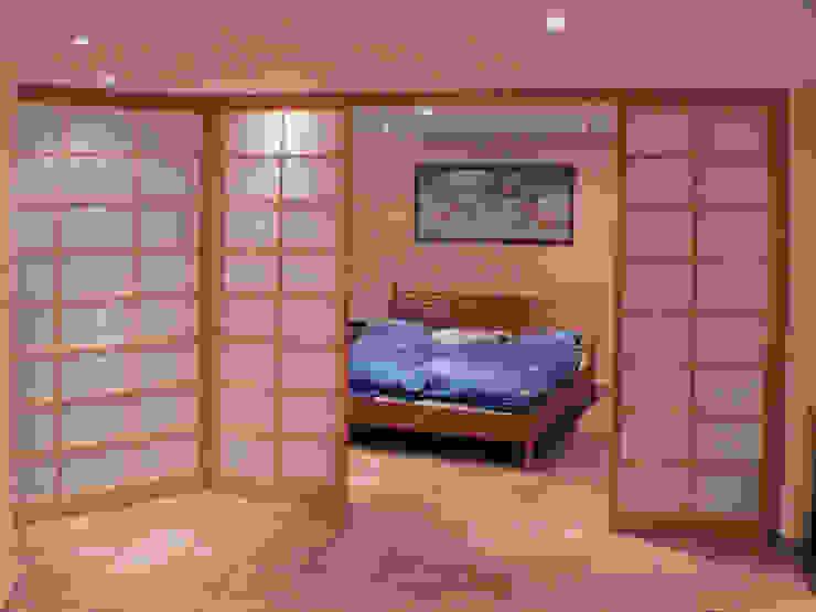Shoji Raumteiler in Kirschbaum Alignum Möbelbau Asiatische Schlafzimmer