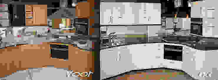 Keuken spuiten in wit ral-9016 zijdeglans.: modern  door Eurobord Keukenspuiterij en Meubelspuiterij, Modern