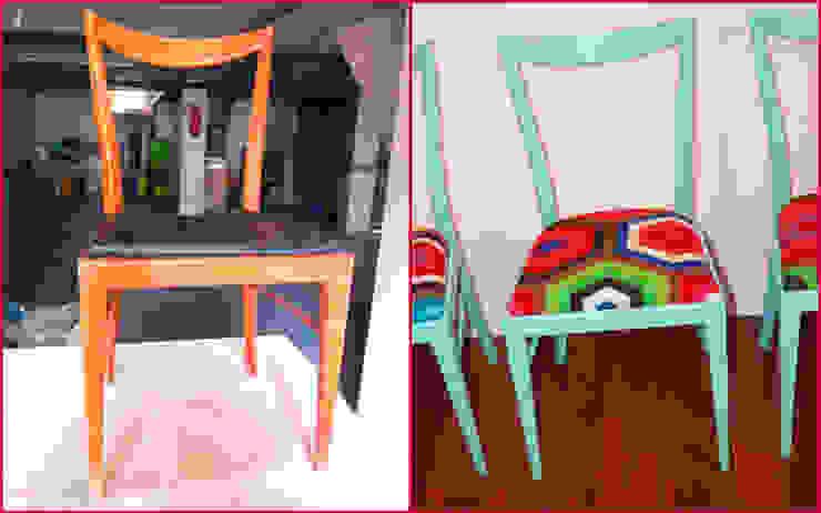 4 sillas recuperadas años 50 Mari-Shere de Amarquimia