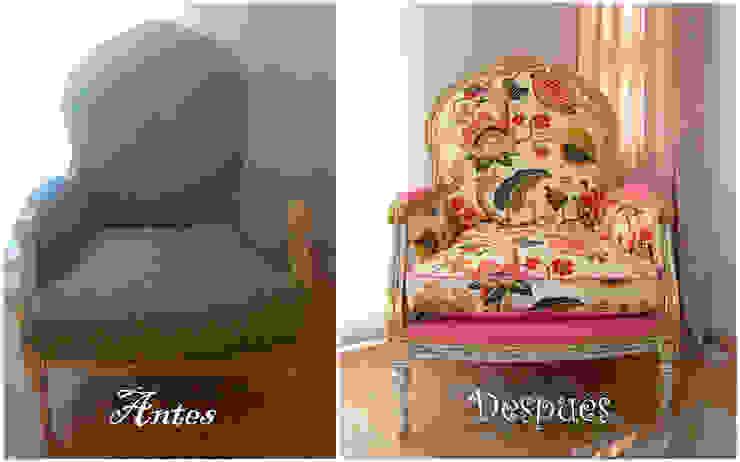 Diseño y ejecución retapizado sillones Isra y Lidia de Amarquimia