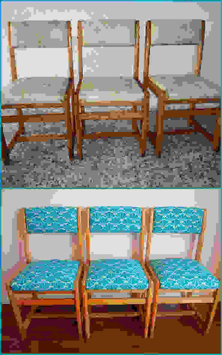 3 sillas recuperadas ex-graffiti de Amarquimia