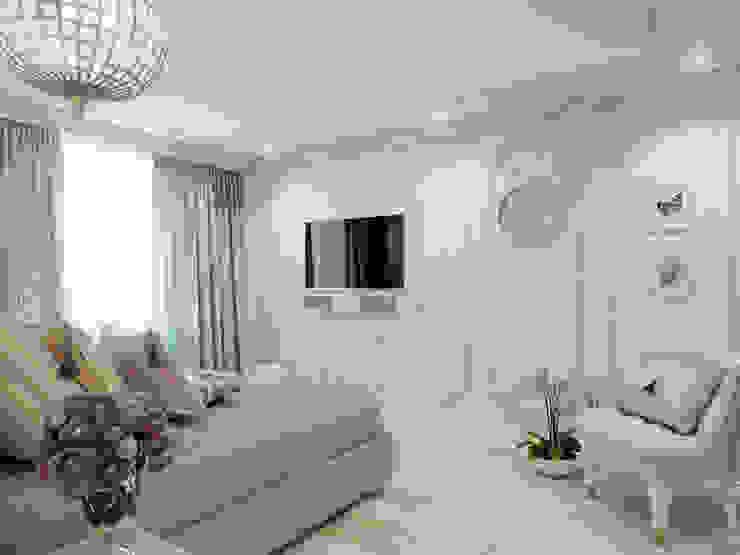Атмосфера весны в однокомнатной квартире Спальня в классическом стиле от Volkovs studio Классический