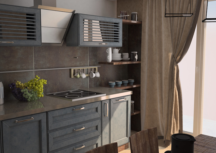 Industrial style kitchen by DS Fresco Industrial