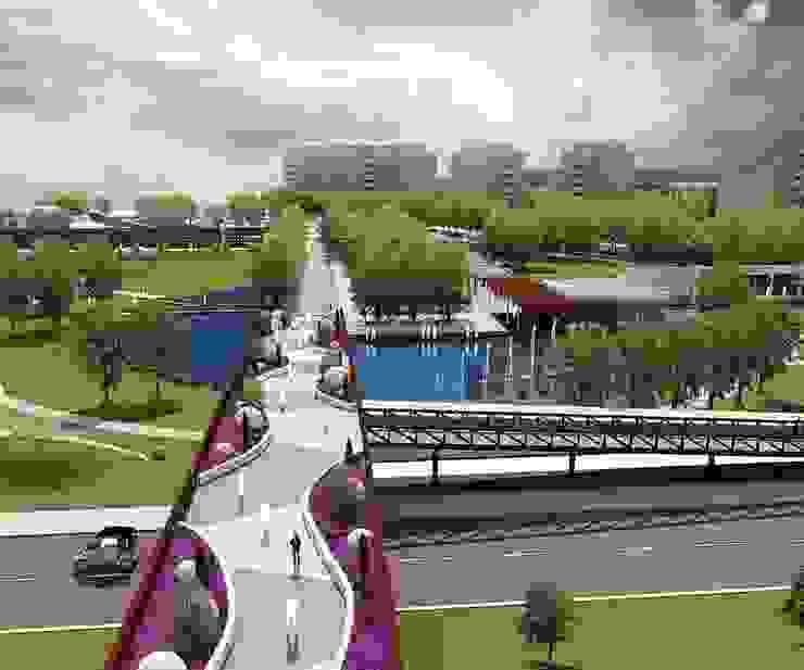 Pedestrian bridge and the puddle de ON TASARIM LTD. ŞTi.
