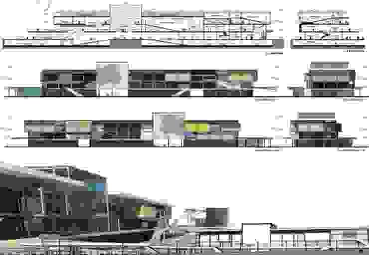 Sinema ve kongre merkezi kesit ve görünüsleri ON TASARIM LTD. ŞTi.