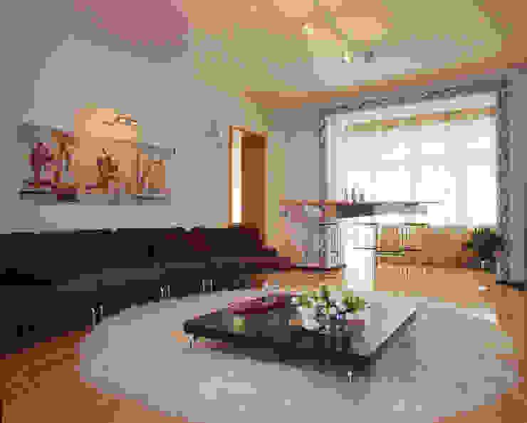 Квартира 2002 в Петербурге Гостиная в стиле модерн от Format A5 Fontanka Модерн